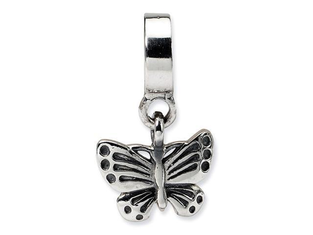 925 Sterling Silver Charm Butterfly Dangle Jewelry Bead