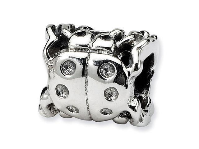 925 Sterling Silver Insect Ladybug Charm Jewelry Bead