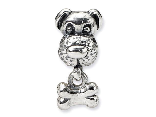 925 Sterling Silver Kids Dog Bone Charm Jewelry Bead