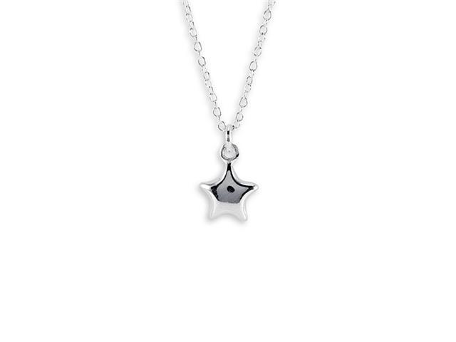 New 925 Sterling Silver Star Pendant Charm Necklace