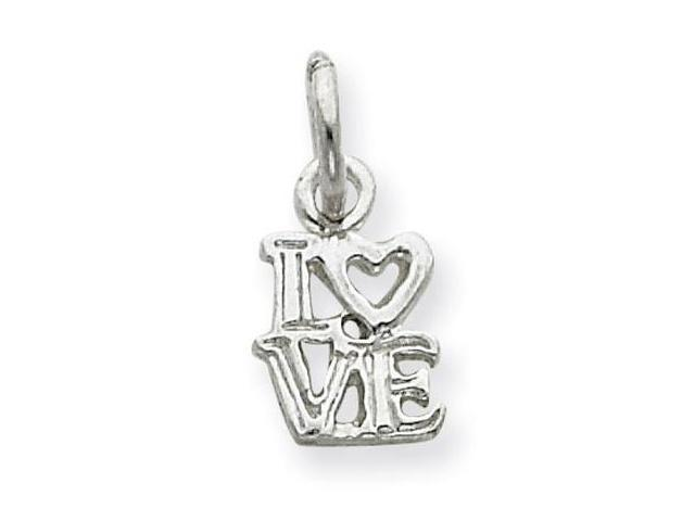 925 Sterling Silver Love Heart Romance Charm Pendant