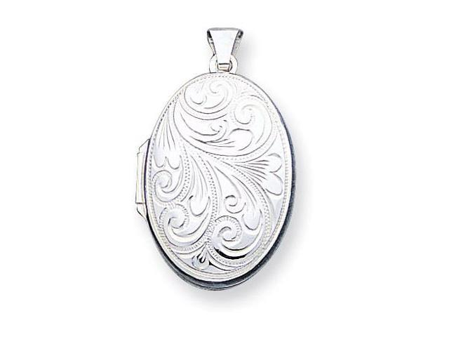 925 Sterling Silver Floral Scroll Locket Charm Pendant