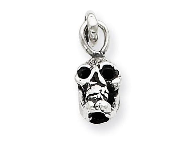 925 Sterling Silver Vintage Gothic Skull Charm Pendant