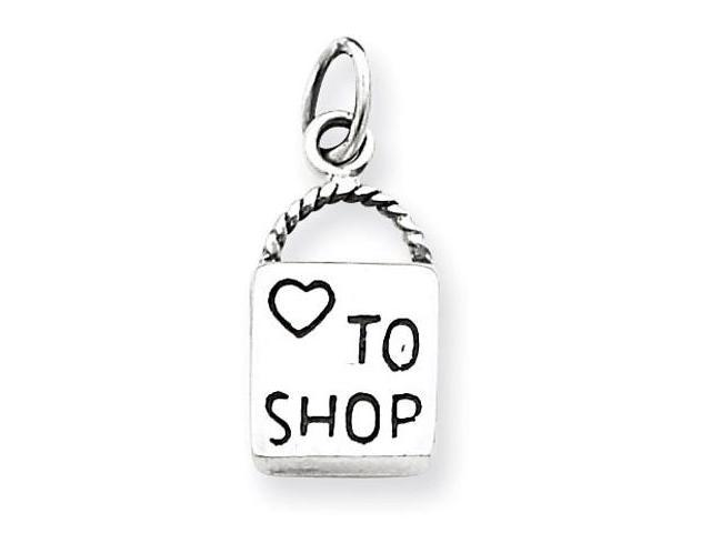 925 Sterling Silver Love Heart To Shop Handbag Charm