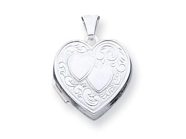 925 Sterling Silver Double Heart Locket Charm Pendant