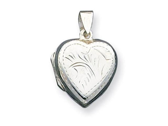 925 Sterling Silver Detailed Heart Locket Charm Pendant
