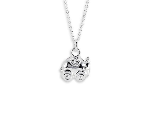 New .925 Sterling Silver Car Pendant Charm Necklace