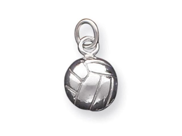 925 Sterling Silver Sports Solid Volleyball Ball Charm