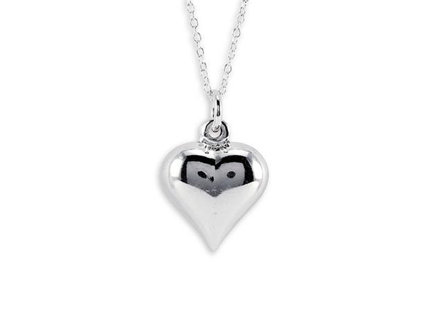 New 925 Sterling Silver Heart Pendant Charm Necklace