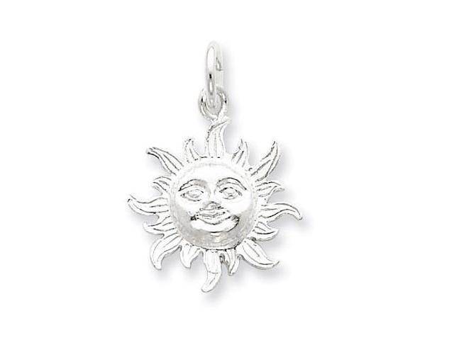 925 Sterling Silver Polished Celestial Sun Pendant