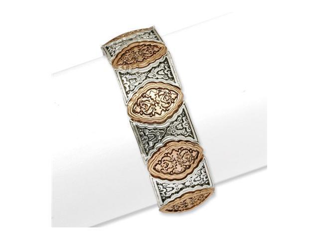 Silver-tone & Copper-tone Stretch Bracelet