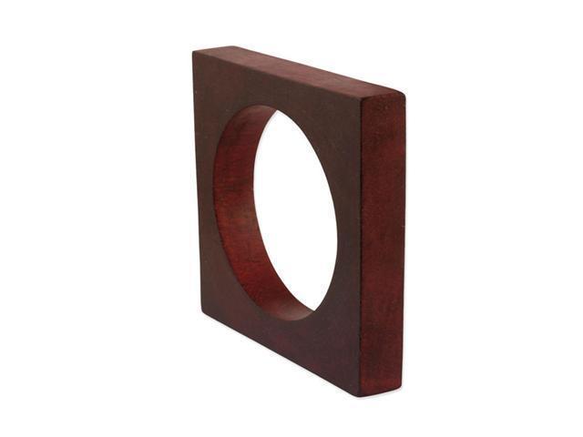 Red Natural Wood Square Bangle