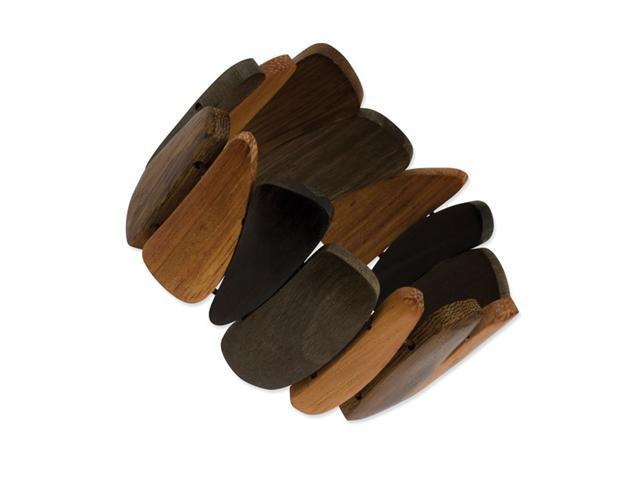 Natural Hamba Wood Stretch Bracelet