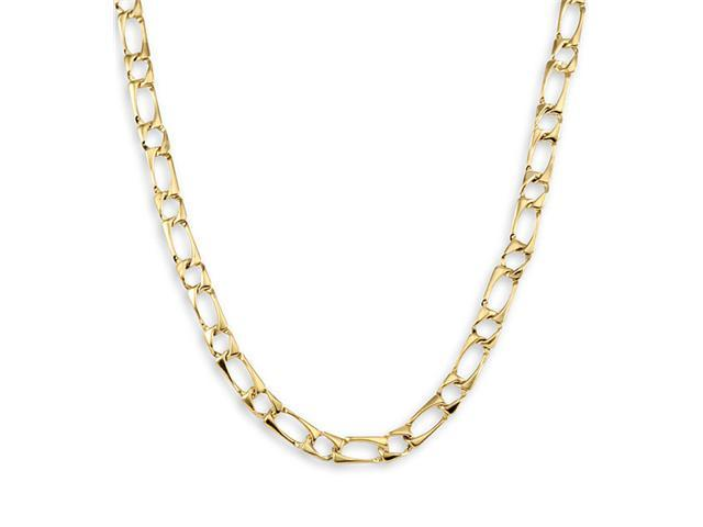 New 14k Yellow Gold Square Link Chain Necklace 6.1mm