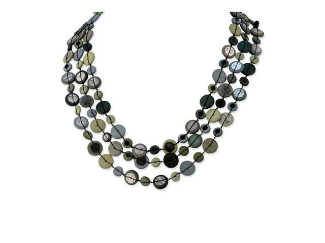 Multi-colored Hamba Wood & Sequin 25in w/Ext Necklace