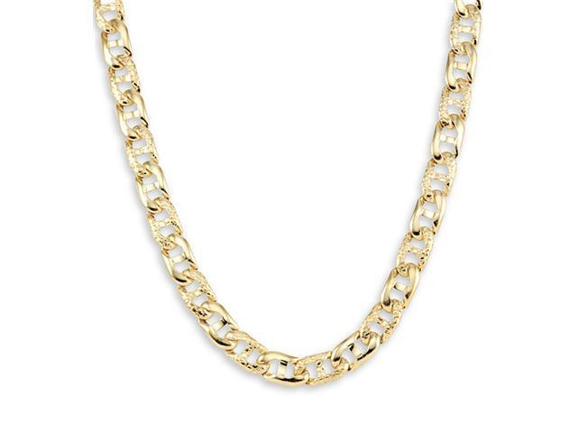 New 14k Yellow Gold Mariner Link Chain Necklace 6.1mm