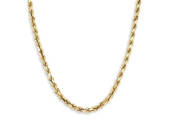 New Rope Chain 14k Yellow Gold Necklace 4.8mm