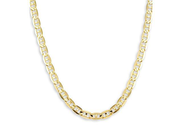 14k Yellow Gold Mariner Link Chain New Necklace 4.1mm