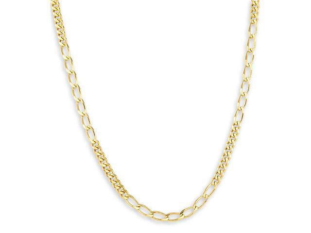 New 14k Yellow Gold Cuban Open Link Chain Necklace