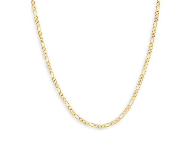 14k Yellow Gold Polished 1.8mm Figaro Chain Necklace