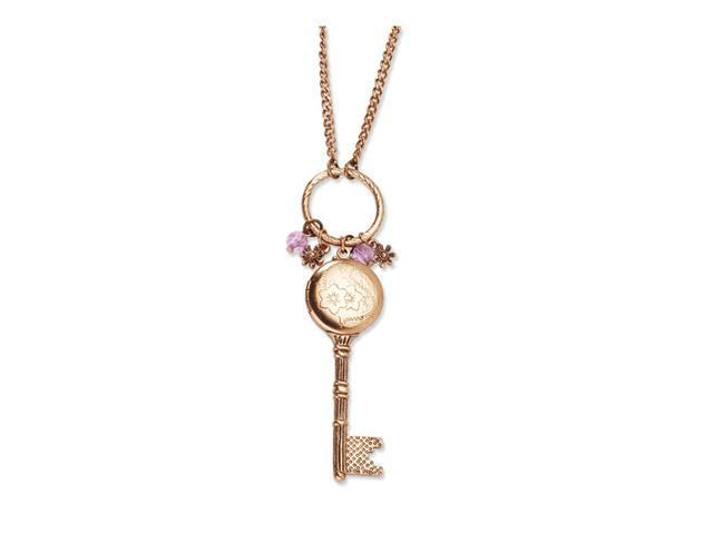 Pink Crystal Charms Key Locket 21