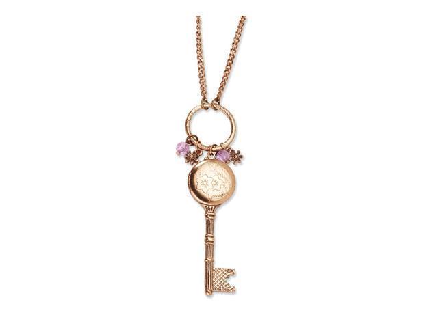 Pink Crystal Charms Key Locket 21