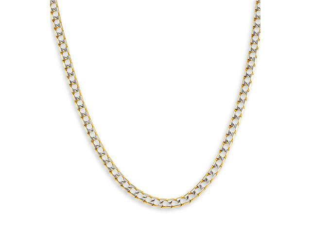 New 14k White Yellow Gold Cuban Chain Necklace 4.1mm
