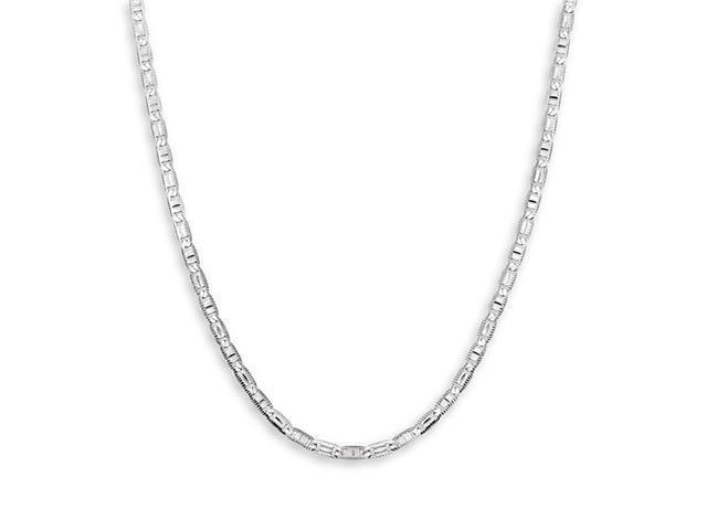 New 14k White Gold Mariner Link Chain Necklace 3.2mm