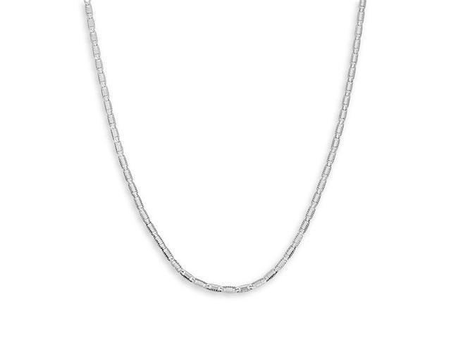 New 14k White Gold Valentino Link Chain Necklace 2.3mm
