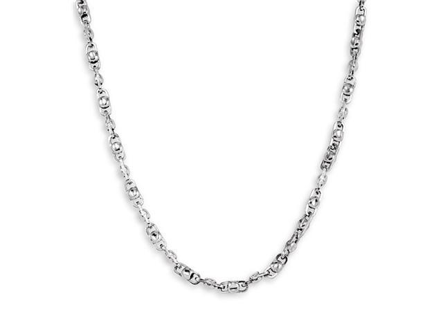 New Solid 14k White Gold Link Chain Necklace 4.1mm 20""