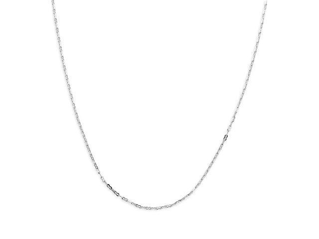 Polished 14k White Gold 1.7mm Singapore Chain Necklace