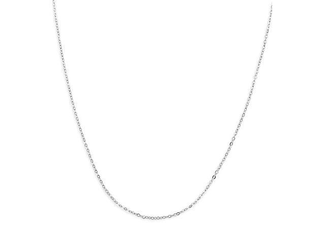 Polished 14k White Gold 1.3mm Anchor Chain Necklace