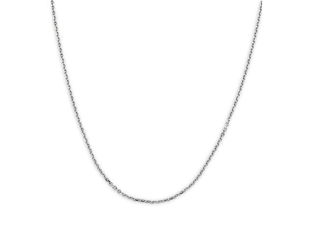 14k Polished White Gold 1.4mm Rolo Chain Necklace