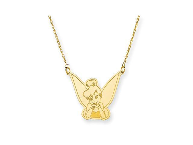 14K Gold Over .925 Sterling Tinkerbell Pendant Necklace