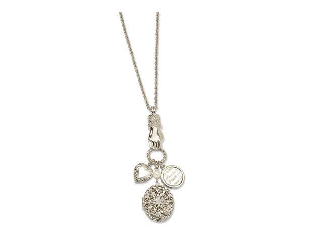 Silver-tone Locket & Charms 30