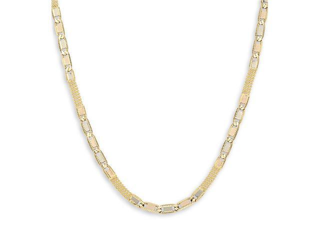 14k Yellow White Rose Gold Valentino New Necklace 4 mm