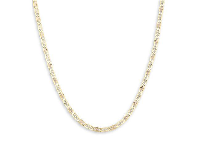 New 14k White Yellow Rose Gold Valentino Necklace 3.1mm