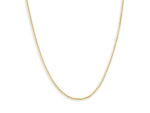 Solid 14k Yellow Gold New Cable Chain Necklace 1.4mm