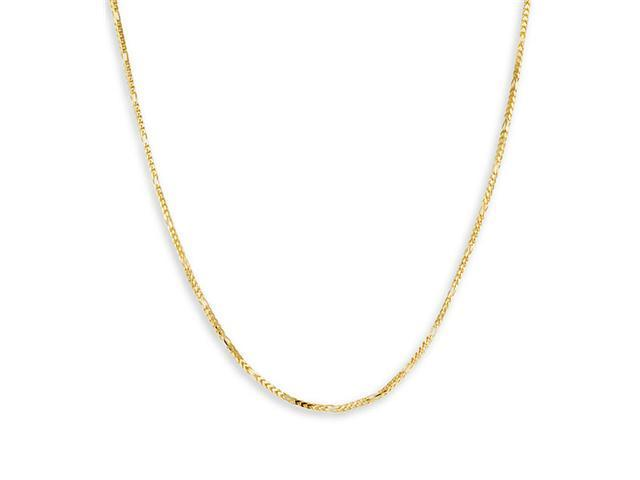 Solid 14k Yellow Gold Chain Link Necklace 1.4mm 20""