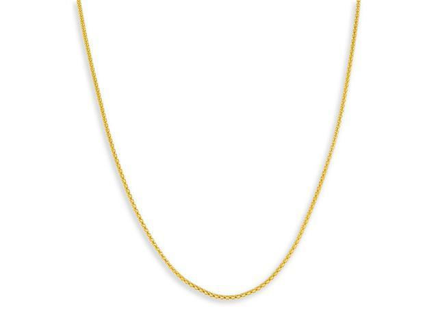 New 14k Yellow Gold Popcorn Chain Necklace 1.5mm