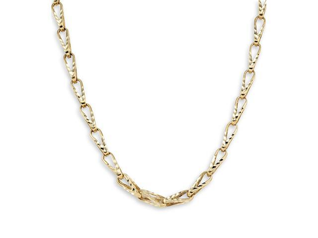 Bullet Link Chain 14k Solid Yellow Gold Necklace 5.4mm