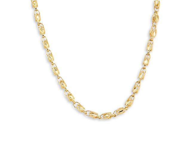 New Solid 14k Yellow Gold Link Chain Necklace 5.3 mm