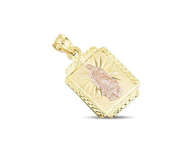 14k yellow rose gold virgin mary diamond cut charm pendant newegg 14k yellow rose gold virgin mary diamond cut charm pendant mozeypictures Gallery