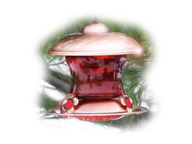 Woodlink Audubon Series Brushed Copper & Ruby Glass Feeder
