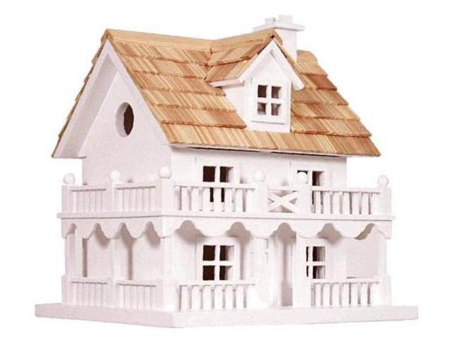 Home Bazaar Novelty Cottage Birdhouse With Bracket - HB-6102