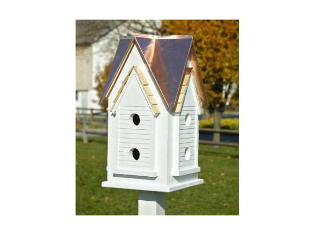 Heartwood Victorian Mansion Birdhouse, Bright Copper Roof