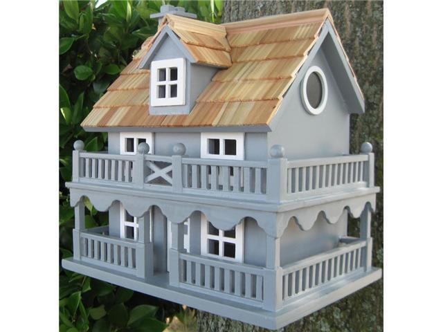 Home Bazaar Classic Series Novelty Cottage Birdhouse (Blue)