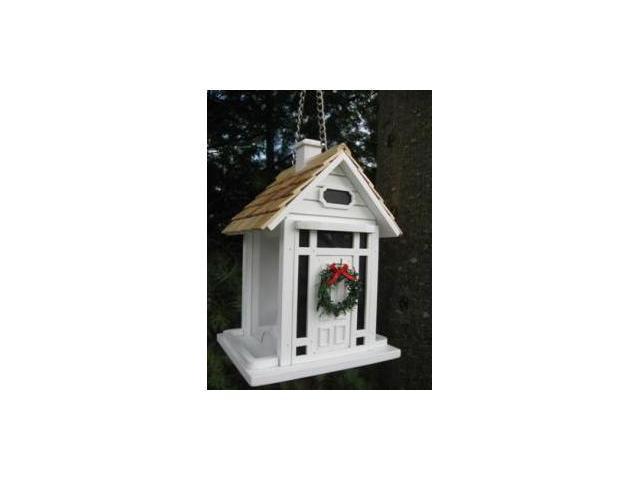 Christmas Cottage Birdfeeder (White)