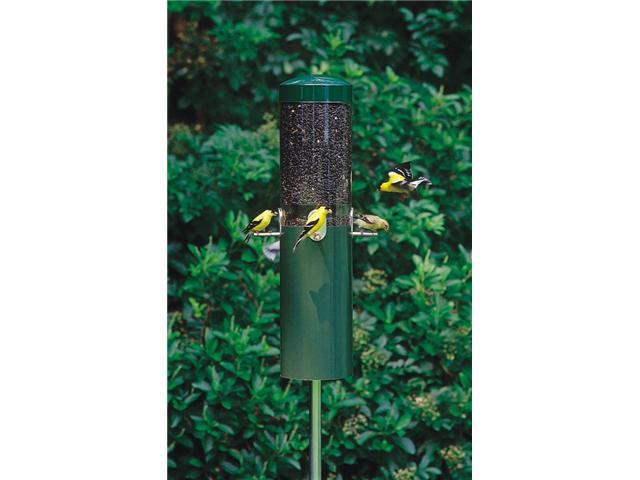 Birds Choice Classic Bird Feeder with Built-In Squirrel Baffle and Pole - G