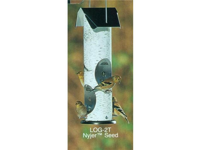 Birch Log Bird Feeder